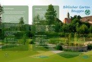 Flyer biblischer Garten - Schloss Beuggen