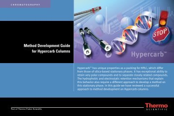 Method Development Guide for Hypercarb Columns