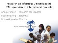 Research on Infectious Diseases at the ITM ... - ERRIN Network