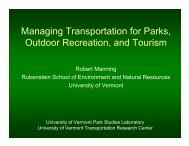 Managing Transportation for Parks, Outdoor Recreation, and Tourism