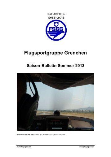 2013 Bulletin Sommer - Flugsportgruppe Grenchen