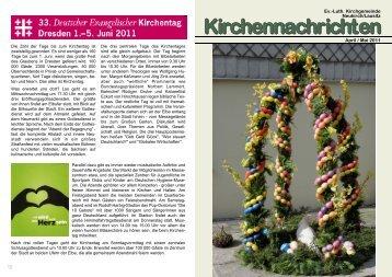Kirchenblatt April/Mai 2011 - Kirchgemeinde Neukirch/Lausitz
