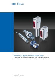 Sensoren im Hygiene- und Washdown-Design Zertifiziert ... - Baumer