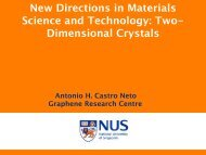 New Directions in Materials Science and Technology: Two ...