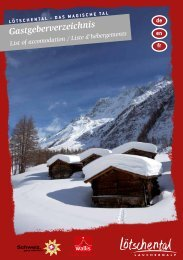 Gastgeberverzeichnis - Lötschental Tourismus