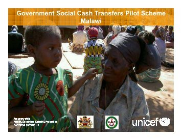 Presentation on Malawis experiences with social cash transfers