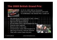 The 2009 British Grand Prix