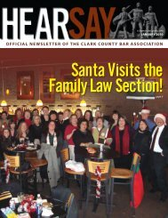 Santa Visits the Family Law Section! - Clark County Bar Association