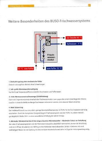BUSO Bufferspeicher und Frischwassersystem - IBB Haustechnik