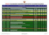 projekt kalendarza zawodów sportowych w sezonie 2013/2014 - PZTS