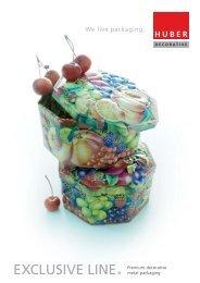 EXCLUSIVE LINE Premium decorative metal packaging