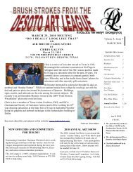 march 2010 newsletter - desoto art league
