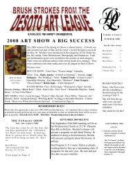 summer 2008 newsletter - desoto art league