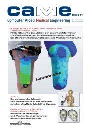 Leseprobe caMe 2-2011 - CADFEM Medical