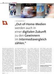 """""""Out-of-Home-Medien werden auch in einer digitalen ... - APG SGA"""
