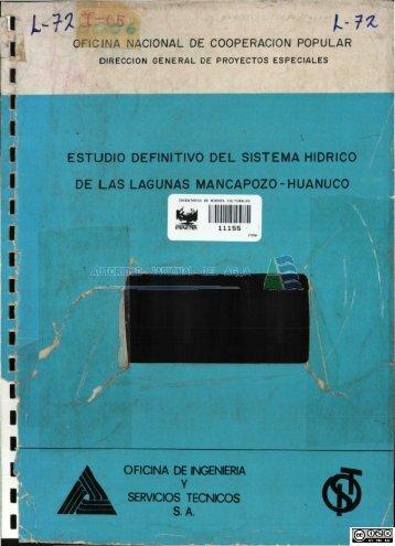 L 72.pdf - Biblioteca de la ANA.