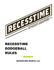 RSL Tuesday Dodgeball Rules 2012bj Tuesday - Recesstime ...