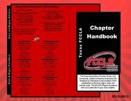 Chapter Handbook - Texas FCCLA
