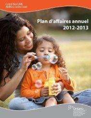 0 Plan d'activités annuel 2012-2013 - RLISS du Centre-Ouest