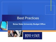 Best Practices - Vice President for Finance and Administration ...