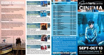Cinema Brochure September to October 2013 - Haverhill Town ...
