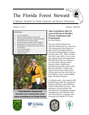 Volume 17, No. 2, Summer-Fall 2010 - School of Forest Resources ...