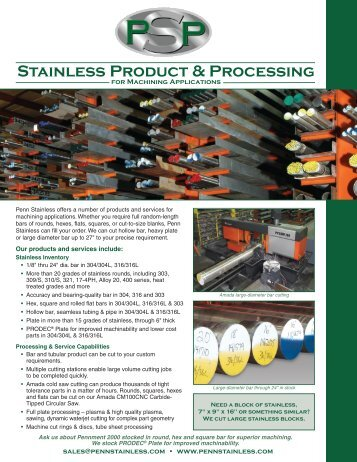 Stainless Product & Processing - Zycon