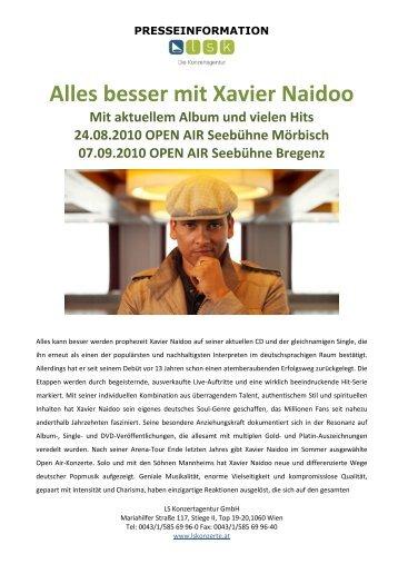 Alles besser mit Xavier Naidoo - LS Konzertagentur