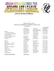 dalmaynewsletter officers & committees - desoto art league