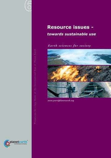 Resource issues - International Year of Planet Earth