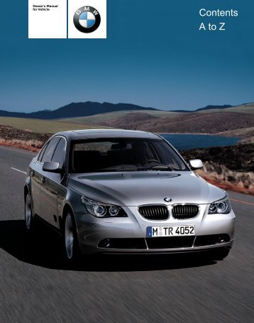 Owner's Manual for Vehicle - 5Series