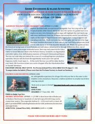 shore excursions &island activities - Discovery Cruise Line