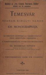 Temesvár szabad királyi város kis monographiája - MEK