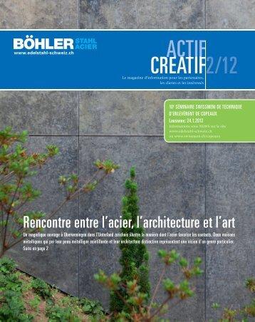 2/12 CREATIF ACTIF CREATIF - böhler-uddeholm schweiz ag