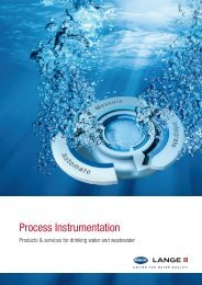 Process Instrumentation: Products + services for ... - HACH LANGE