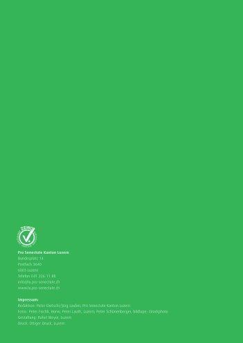 Geschäftsbericht 2010 - Pro Senectute Luzern - bei Pro Senectute ...