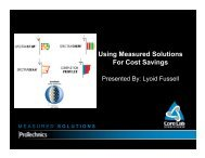 Using Measured Solutions for Cost Savings — Lyoid Fussell ... - OIPA