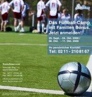 Das Fußball-Camp