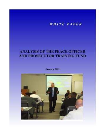 analysis of the peace officer and prosecutor training fund - Georgia ...