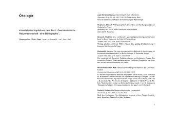 ¨Okologie - Forschungsinstitut am Goetheanum