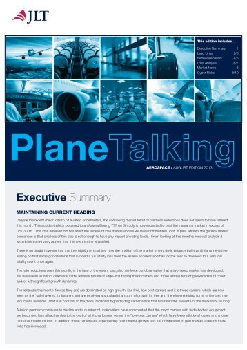 Download this edition of Plane Talking - JLT
