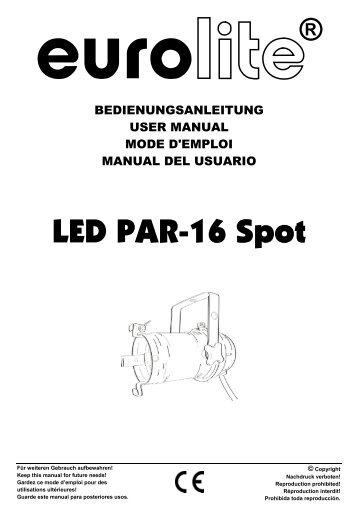 Spl spotlight remote control handheld user manual spot light and.