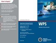 WPS Brochure - Office of Emergency Communications