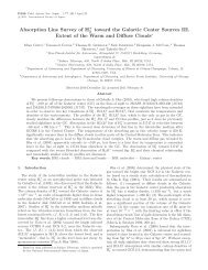 Absorption Line Survey of H+ toward the Galactic Center Sources III ...
