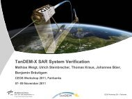 TanDEM-X SAR System Verification - Mathias Weigt, Ulrich ...