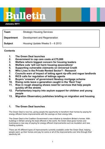 Housing Update Weeks 5-6 2013 - Bolton Landlord Accreditation ...