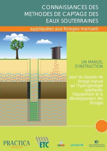 Connaissances des methods de captage des eaux souterraines ...