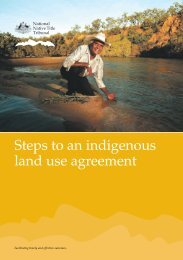 Steps to an indigenous land use agreement - National Native Title ...