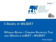 E-Books in WILBERT - KOBV