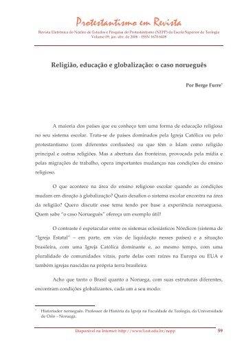 Religião, educação e globalização: o caso ... - Faculdades EST